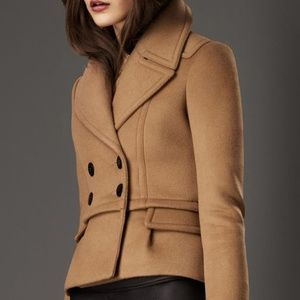 Burberry Wool Cropped Made in Italy Pea Coat